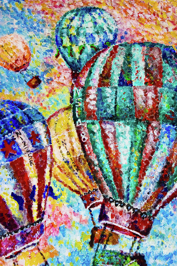 Hot Air Balloon Painting - Up by Colleen Kammerer