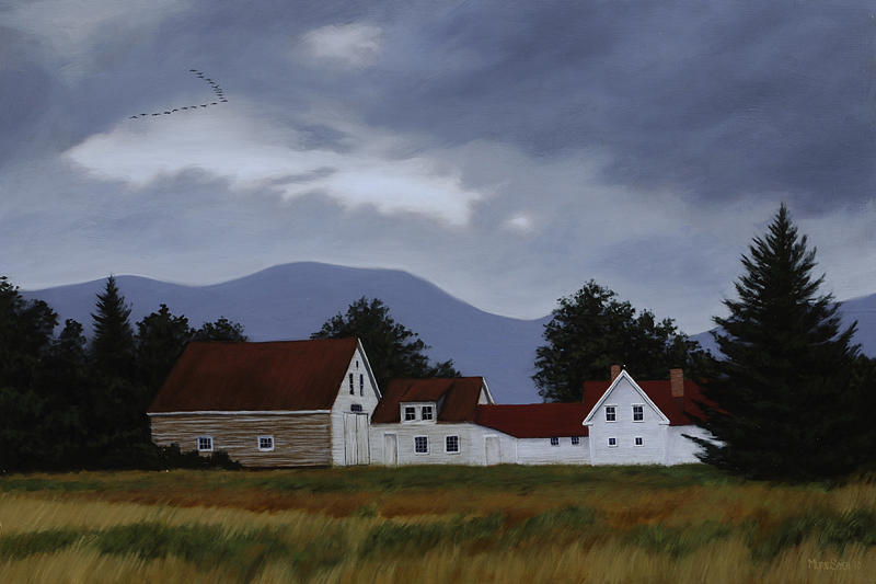 Maine Painting - Up Country Harbinger by Murad Sayen