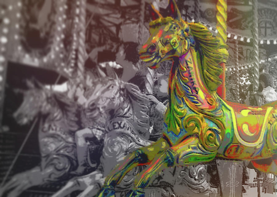 Horse Photograph - Up Down And Around London by JAMART Photography