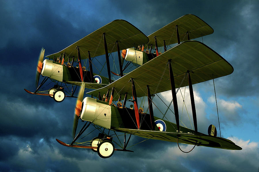 Bi Plane Photograph - Up In The Air by Steven Agius