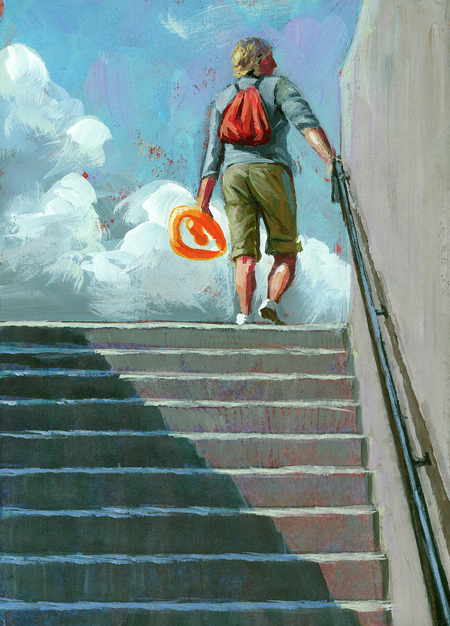 Up Stairs by Lesley Spanos