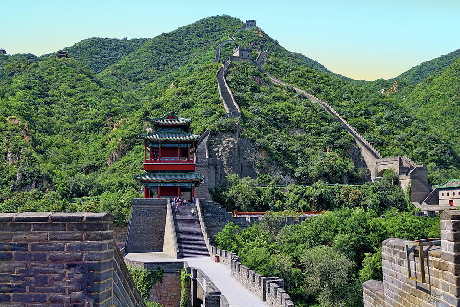 China Photograph - Up The Great Wall by Rick Lawler