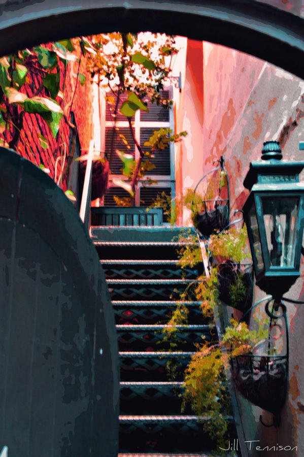Charleston Photograph - Up The Stairs On The Left by Jill Tennison