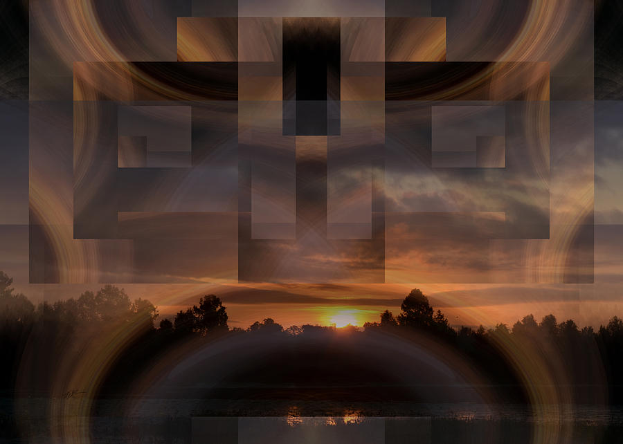 Sunrise Digital Art - Up There In The Sky At Dawn by rd Erickson