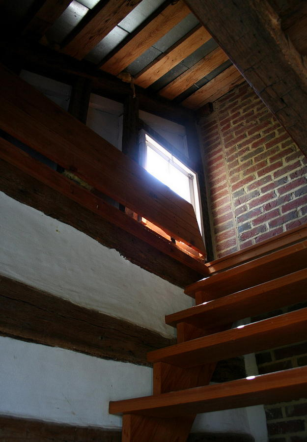 Wooden Steps Photograph - Up To The Attic by Rebecca Smith