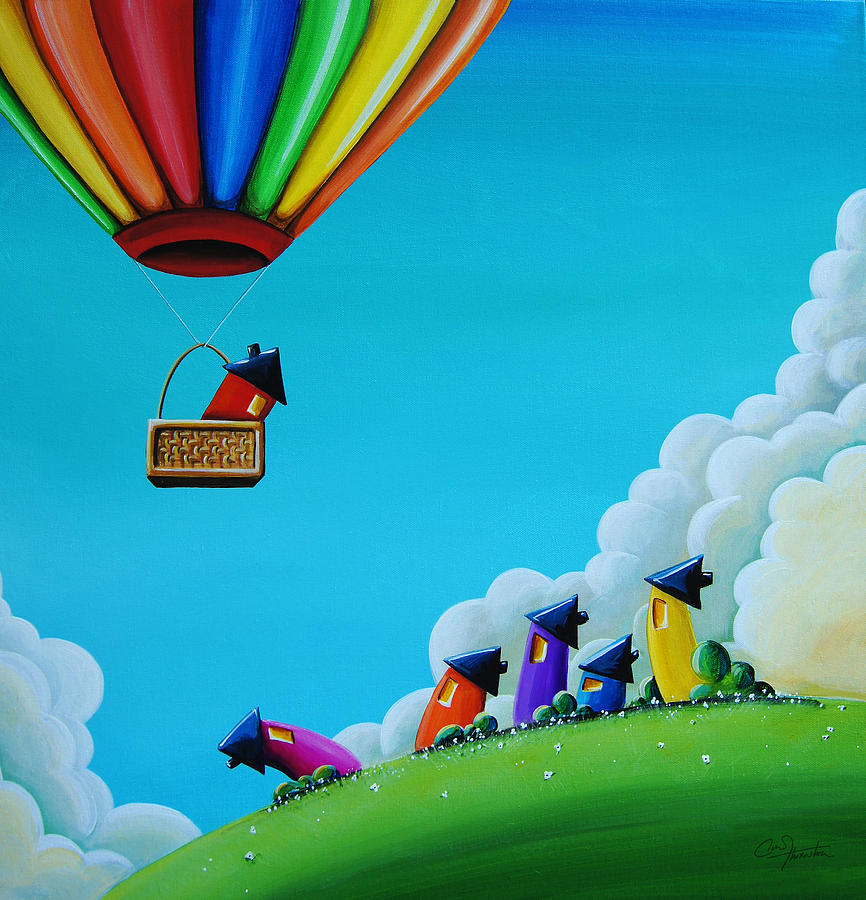 Balloon Painting - Up Up And Away by Cindy Thornton