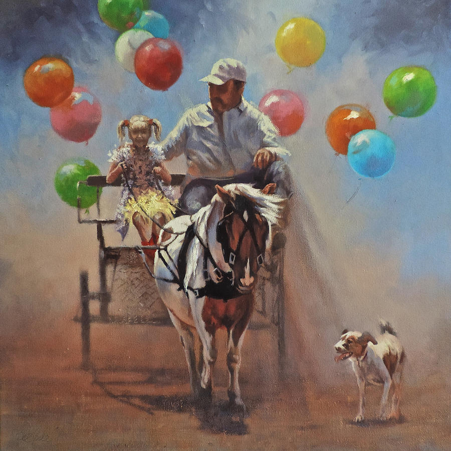 Party Painting - Up Up and Away by Mia DeLode