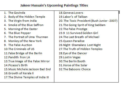 Upcoming Painting Titles Painting by Jakeer Hussain