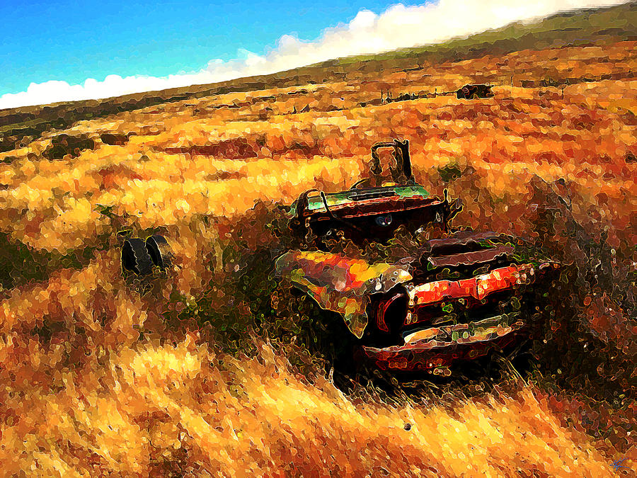 Upcountry Digital Art - Upcountry Wreck by Kenneth Armand Johnson