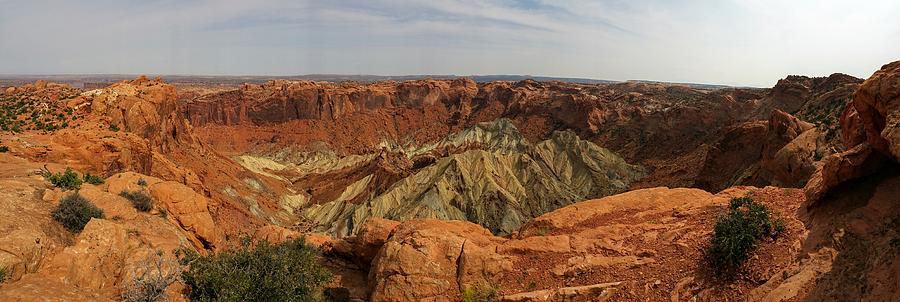 Upheaval Dome Photograph - Upheaval Dome panorama by James Scotti