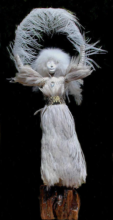 Spirit Doll Sculpture - Uplifted by Judith Comeau