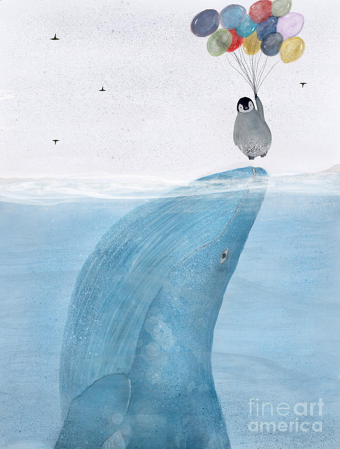 Whale Painting - Uplifting by Bri Buckley