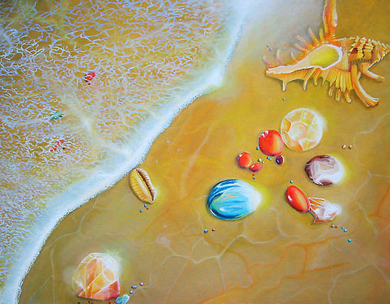 Seascape Painting - Upon The Shores Of Heaven by Leonard Aitken