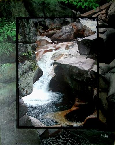 Ammonoosuc Mixed Media - Upper Ammonoosuc Basin by Robert Boynton