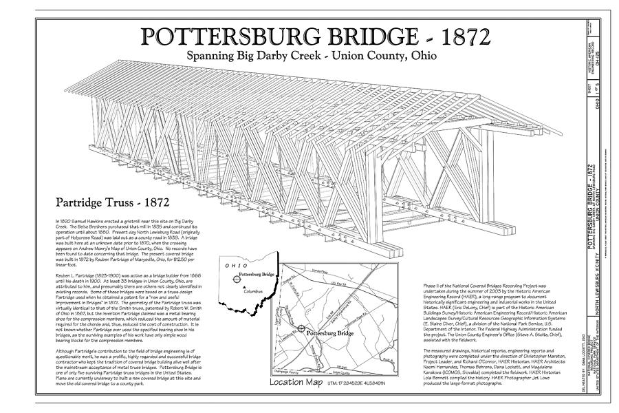 Upper Darby/pottersburg  Covered Bridge Photograph