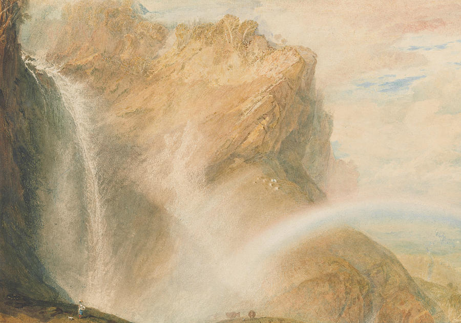 Landscape Painting - Upper Fall Of The Reichenbach- Rainbow by Joseph Mallord William Turner