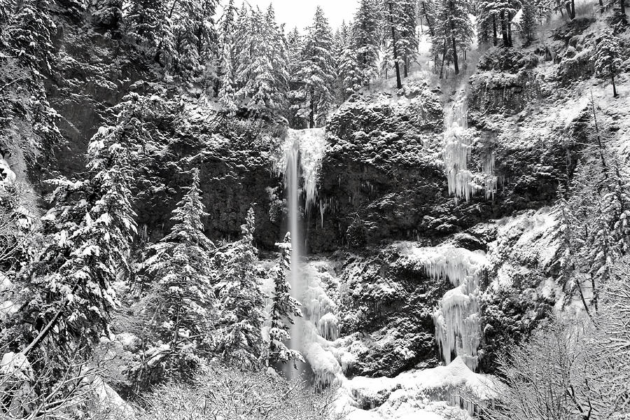 Dusk Photograph - Upper Falls In Snows Cover by Wes and Dotty Weber