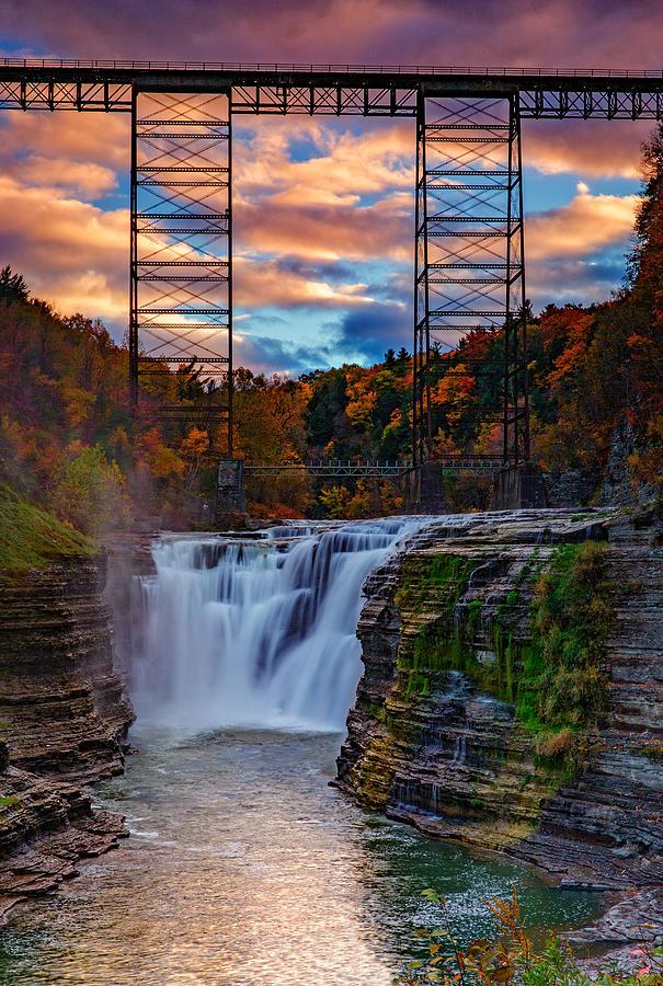 Upper Falls Letchworth State Park Photograph By Rick Berk
