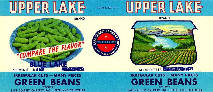 Upper Lake Green Beans Label