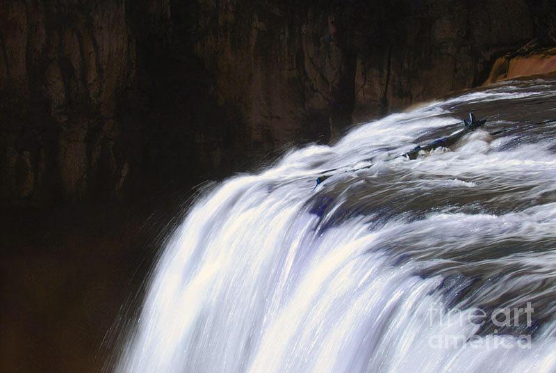 Falls Photograph - Upper Mesa Falls by Dennis Hammer