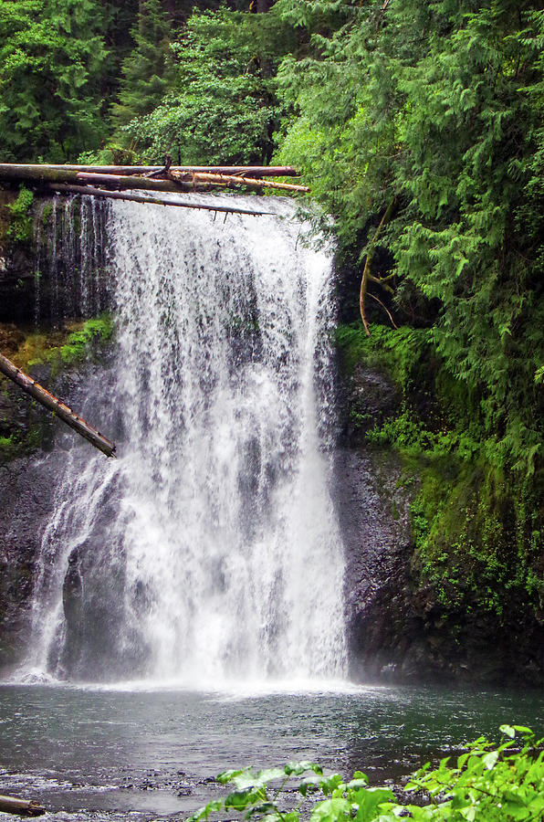 Water Falls Photograph - Upper North Falls 2 by Mike Wheeler