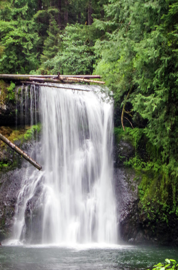 Water Falls Photograph - Upper North Falls 3 by Mike Wheeler