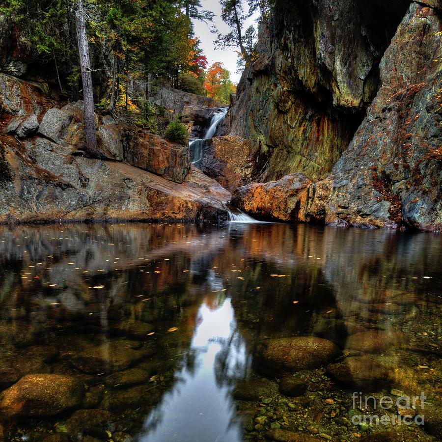 Upper Small Falls Maine by John Sandiford
