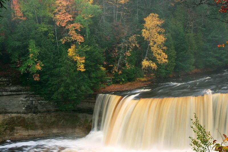 Waterfalls Photograph - Upper Tahquamenon Falls by Amanda Kipplinger