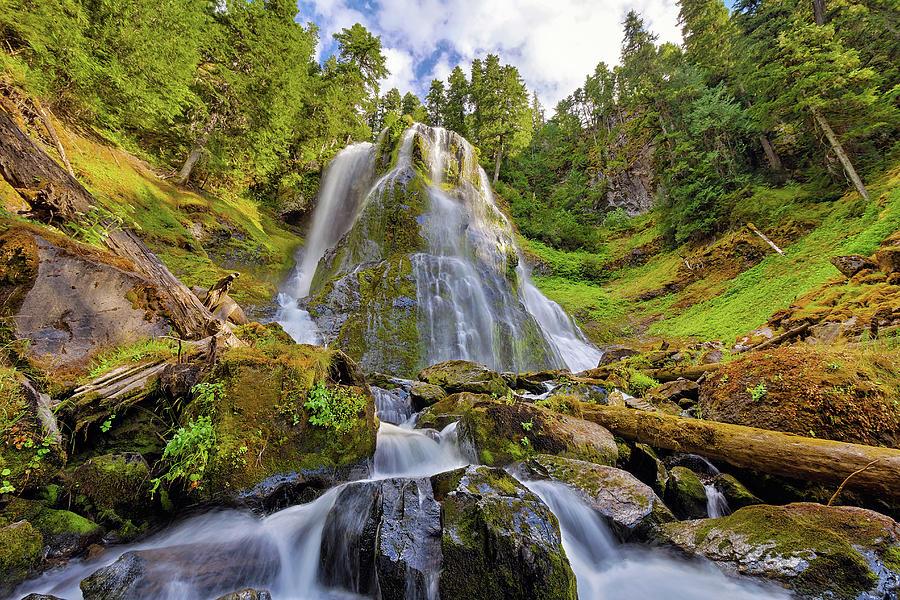 Falls Creek Falls Photograph - Upper Tier Of Falls Creek Falls In Summer by David Gn