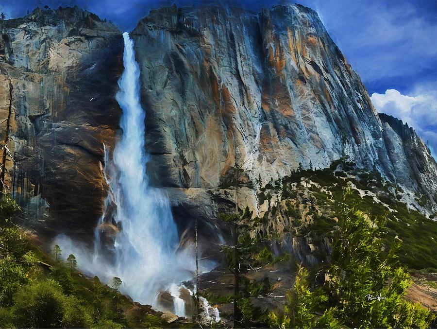 Yosemite Painting - Upper Yosemite Falls by Russ Harris