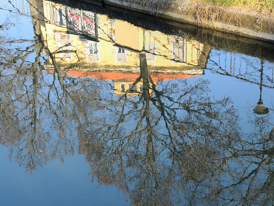 Canal Photograph - Upside Down by Guido Strambio