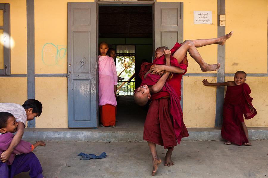Buddhism Photograph - Upside Down by Marji Lang