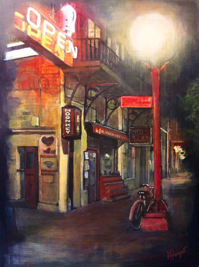 Chinatown Painting - Upstairs At Mrs. Woos by Victoria Heryet
