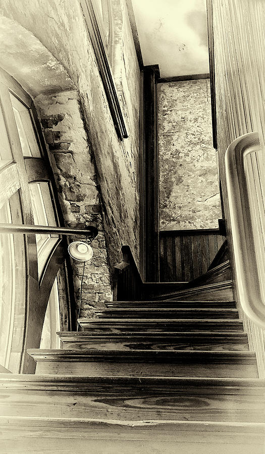 Upstairs - Black and White by Paul Schreiber