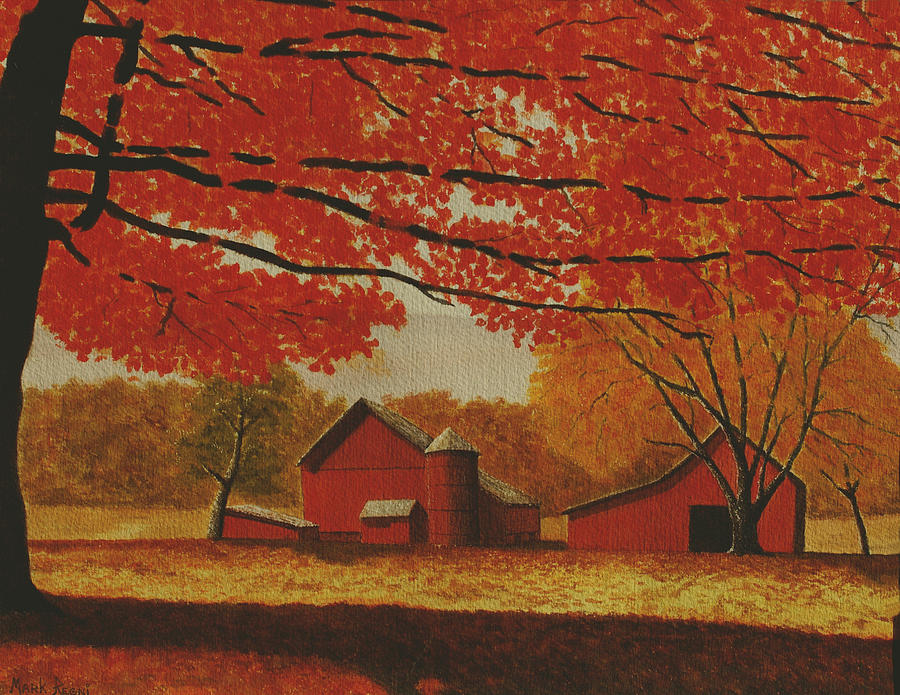 Fall Painting - Upstate Autumn by Mark Regni