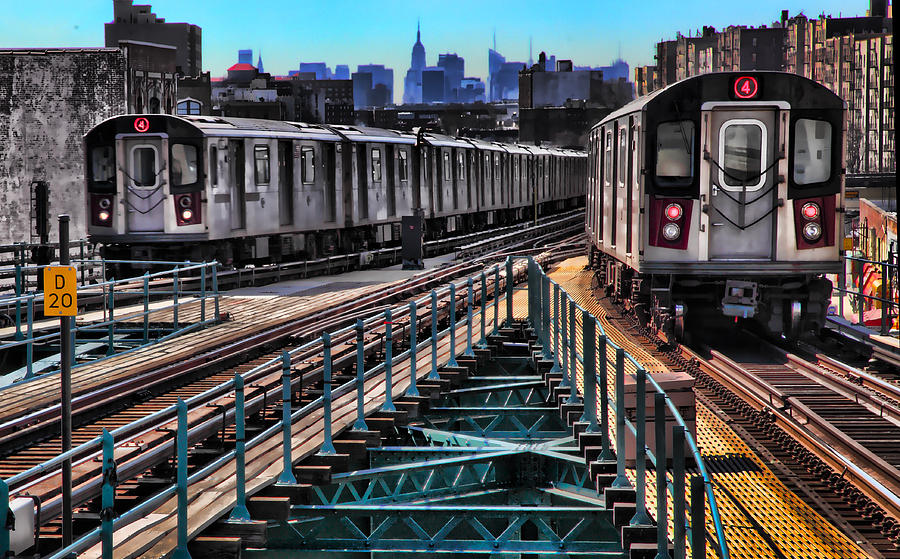 Trains Photograph - Uptown And Downtown by June Marie Sobrito