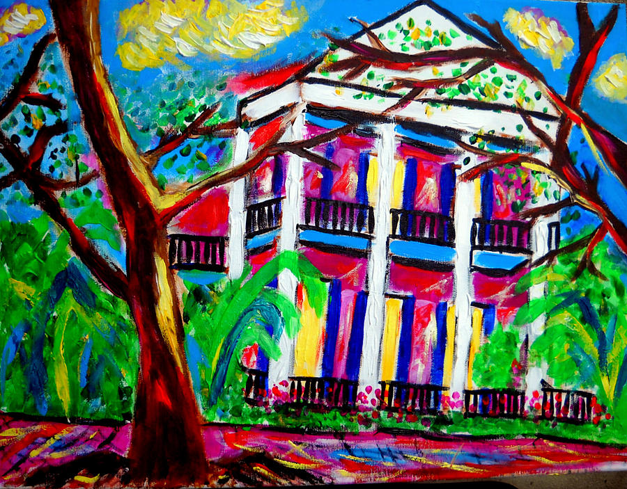 Uptown New Orleans Painting by Ted Hebbler