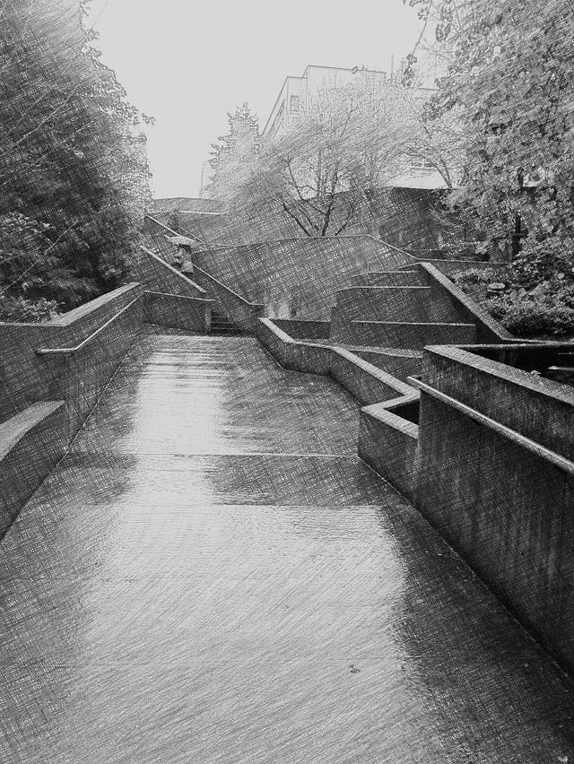 Stairwell Photograph - Upward Path by Eddie G