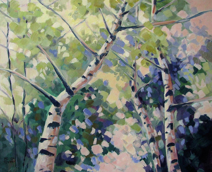 Trees Painting - Upward Swirl by Melissa Gannon
