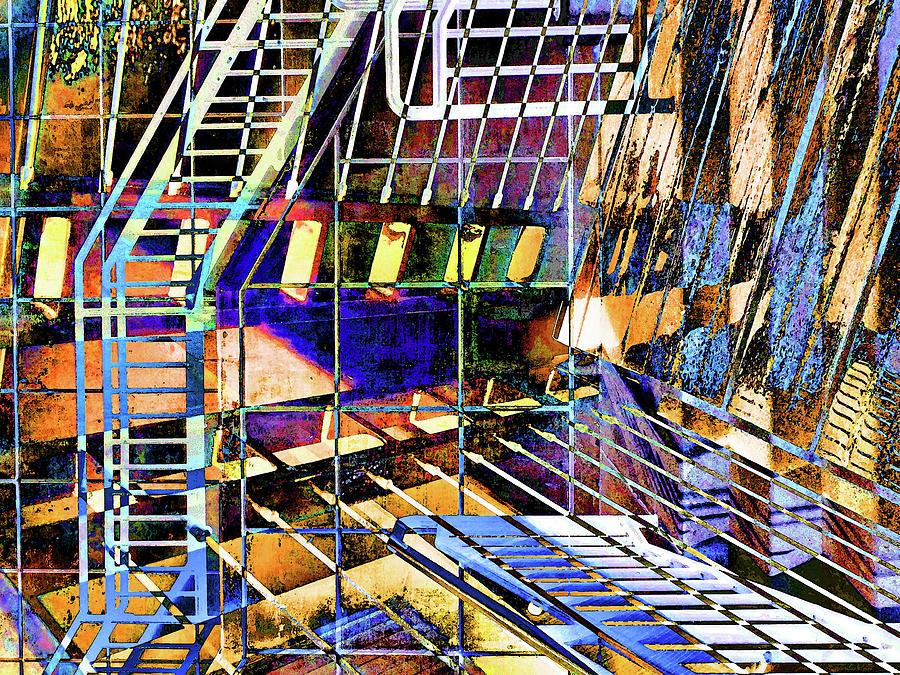 City Photograph - Urban Abstract 172 by Don Zawadiwsky