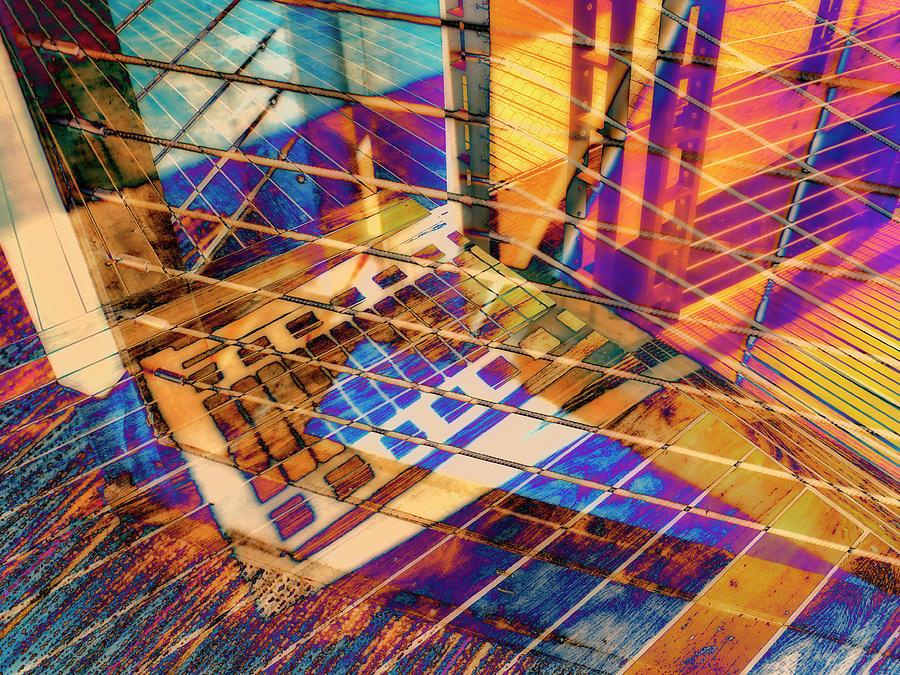 City Photograph - Urban Abstract 423 by Don Zawadiwsky