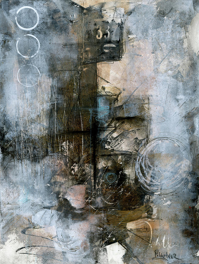 Urban Abstract Cool Tones by Patricia Lintner