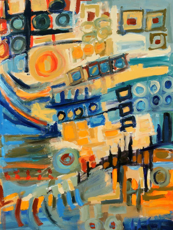 Cityscape Painting - Urban Abstract by Maggis Art