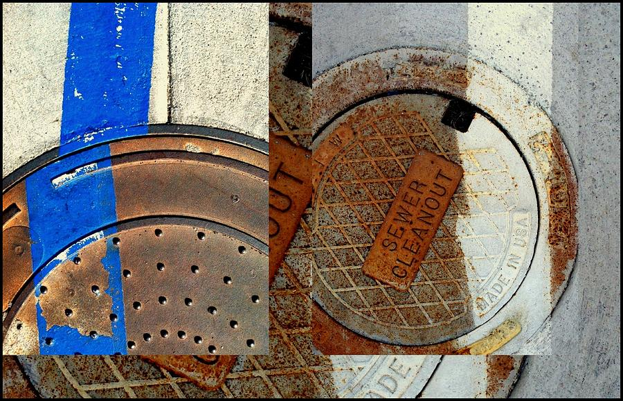 Urban Abstracts Seeing Double 84 by Marlene Burns
