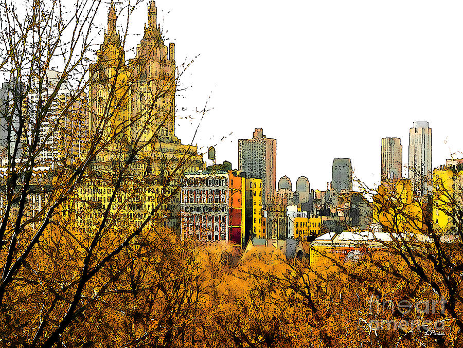 Landscapes Photograph - Urban Autumn In Nyc by Linda  Parker