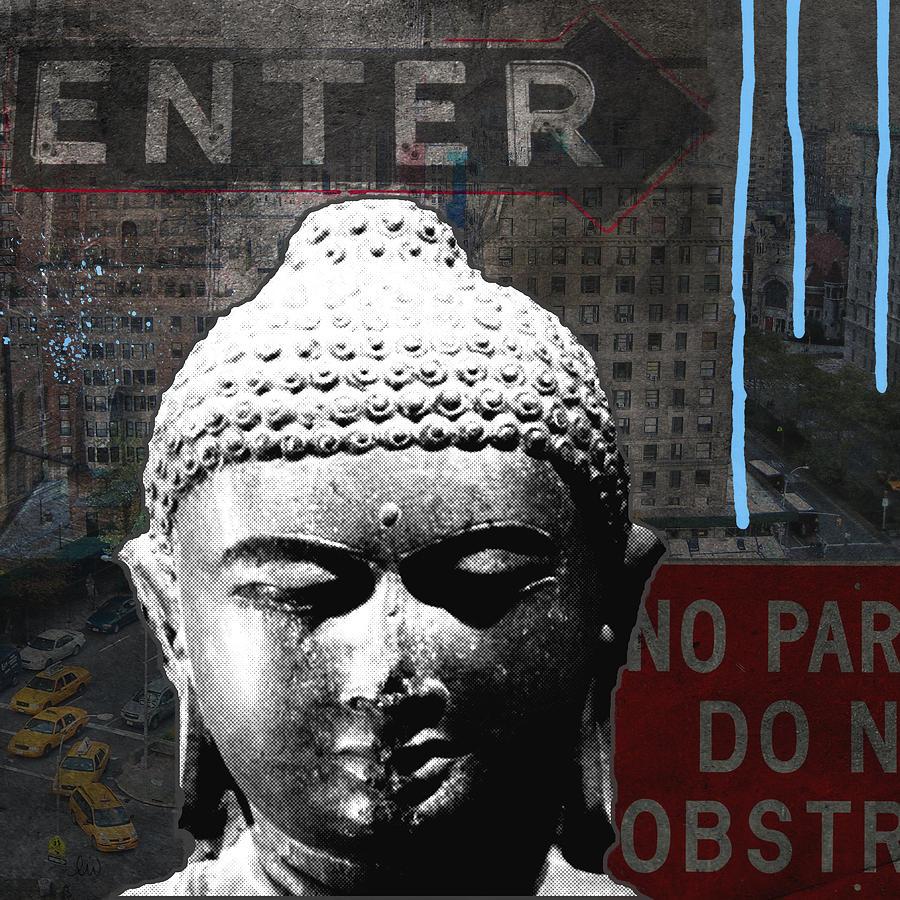Buddha Mixed Media - Urban Buddha 4- Art By Linda Woods by Linda Woods