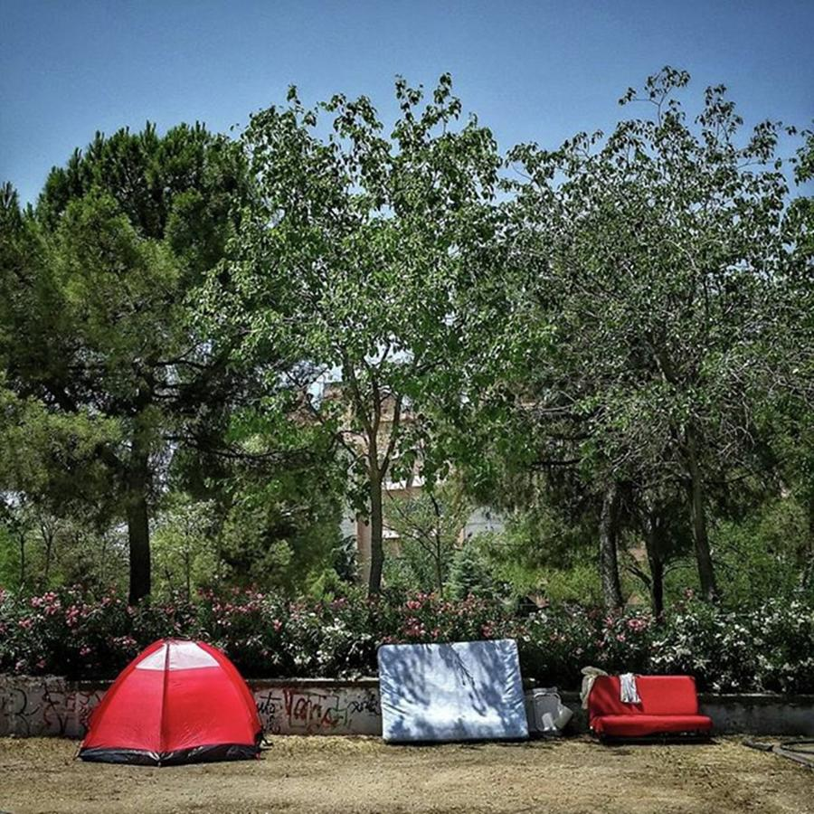 Madrid Photograph - Urban Camping #city #garden #park by Rafa Rivas
