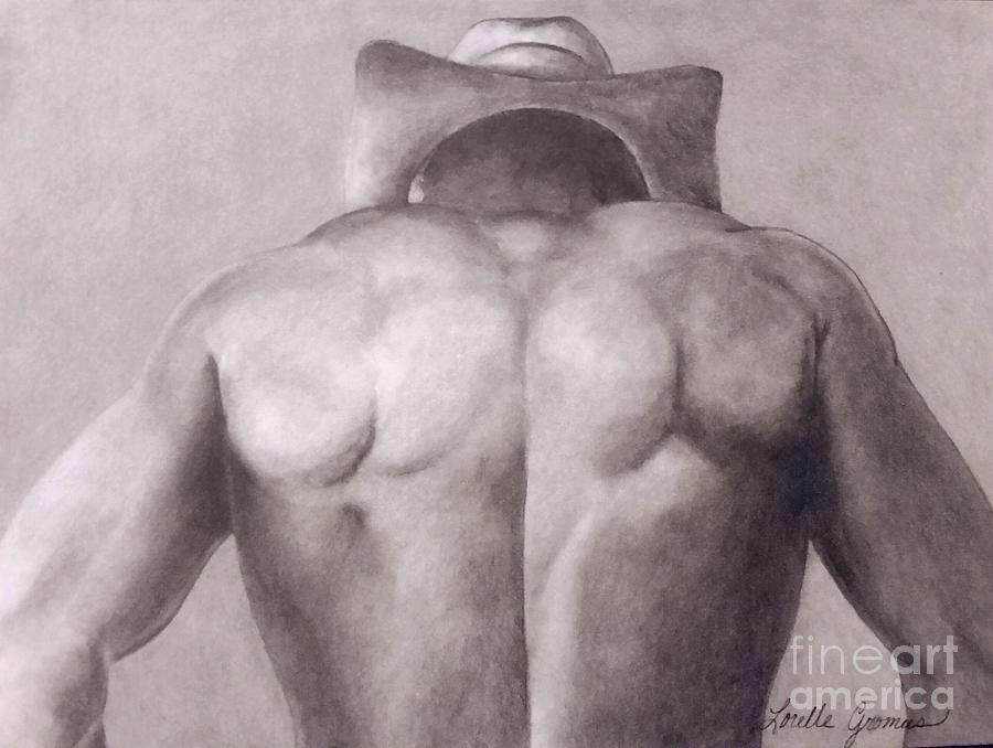 Portrait Drawing - Urban Cowboy by Lorelle Gromus