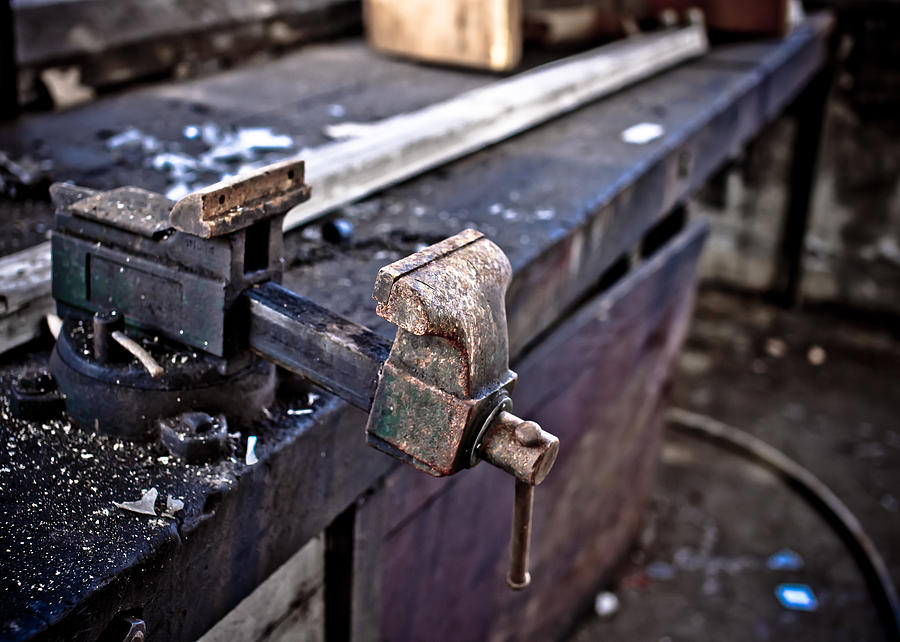Bench Photograph - Urban Decay  The Vice by Edward Myers
