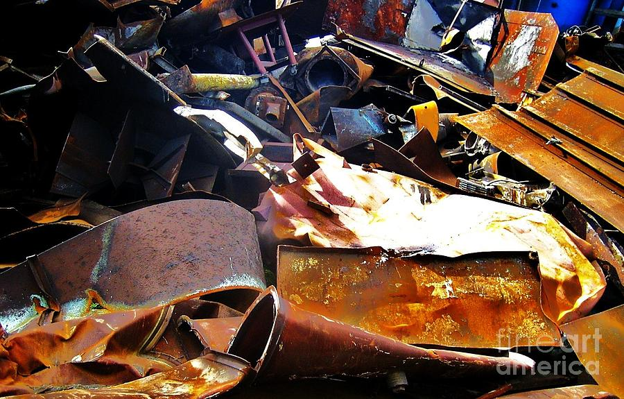 Metal Photograph - Urban Deconstruction by Reb Frost
